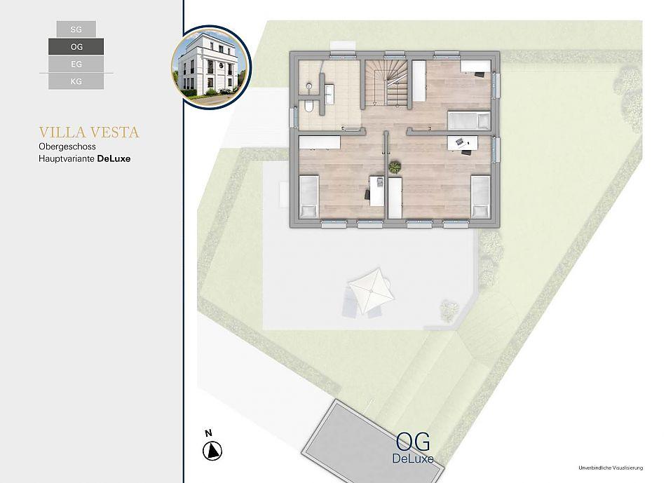 Neubauprojekt RHIVIVA Grundriss Obergeschoss
