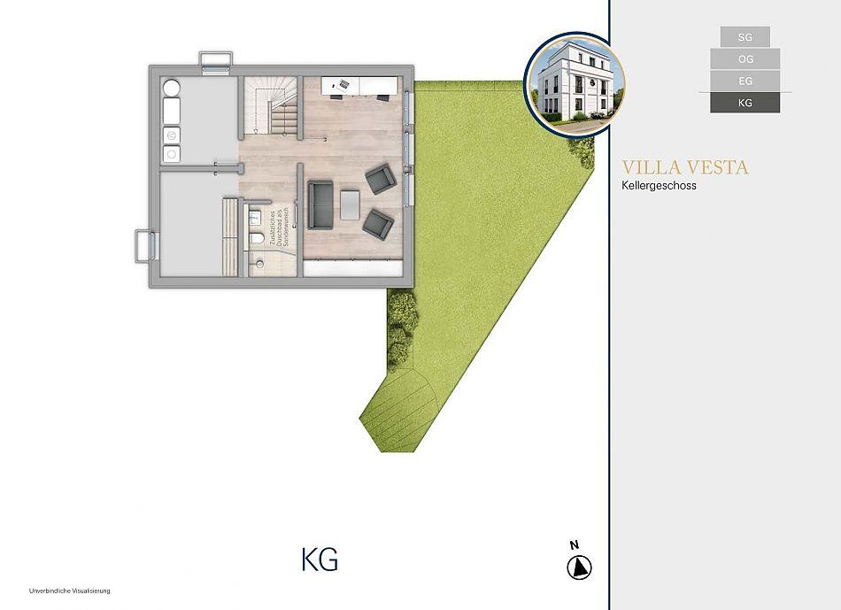 Neubauprojekt RHIVIVA Vesta Kellergeschoss