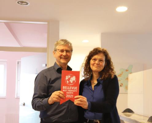 Alfred und Petra Laufenberg freuen sich über die Auszeichnung als Best Property Agent