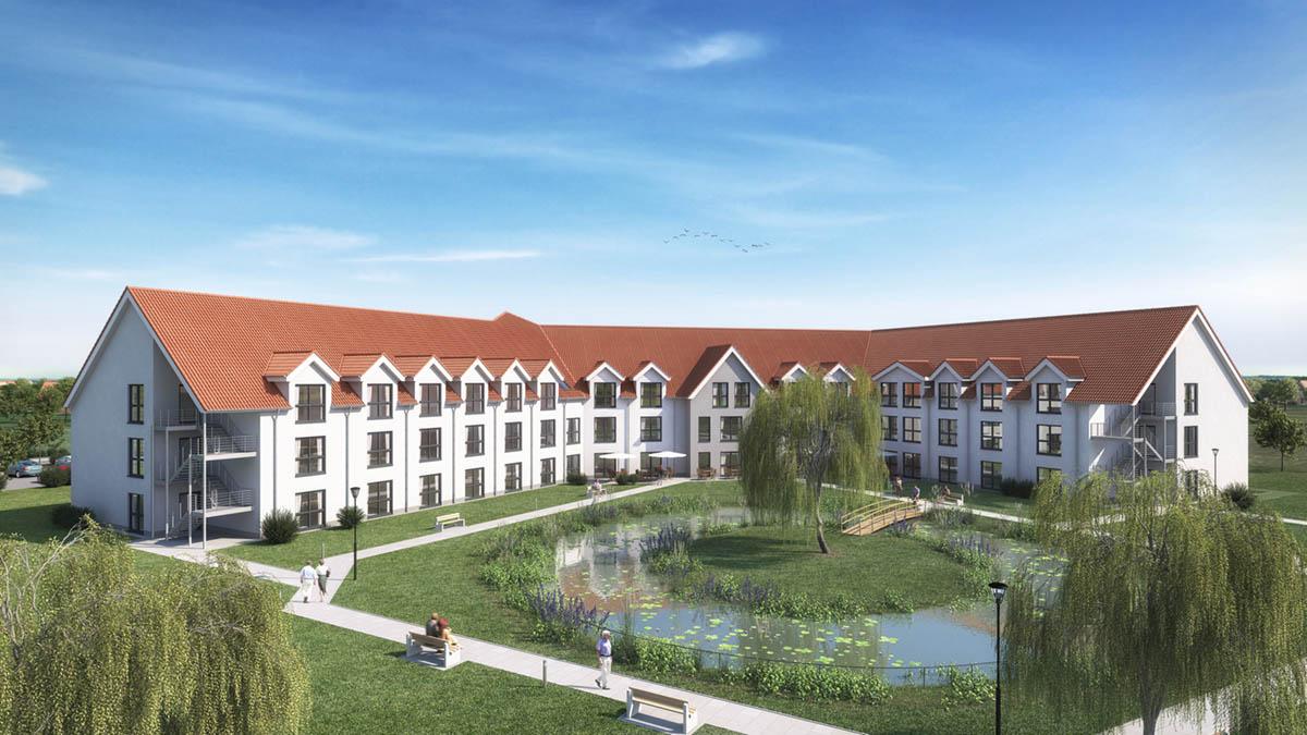 Außenansicht Pflegeimmobilie in Alpen
