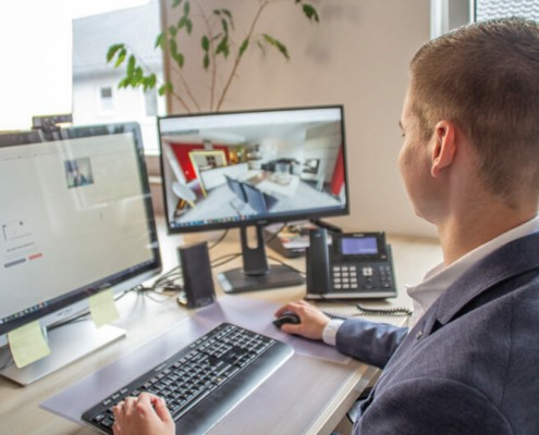 Die Online-Besichtigung ist Bestandteil der Immobilien-Vermarktung bei Laufenebrg Immobilien.